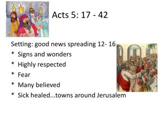 Acts 5: 17 - 42