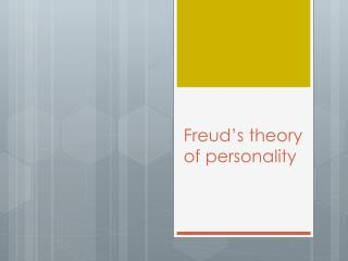 Freud's theory of personality