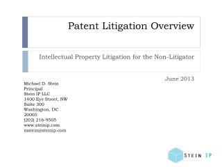 Patent Litigation Overview