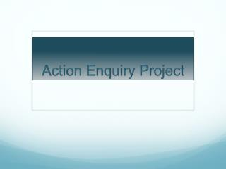 Action Enquiry Project