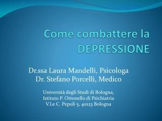 Come combattere la DEPRESSIONE