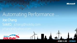 Automating Performance …