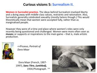 Curious visions 5:  Surrealism II .