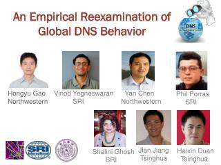 An Empirical Reexamination of  Global DNS Behavior