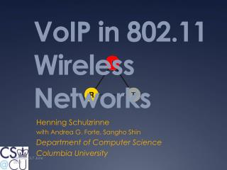 VoIP in  802.11 Wireless  Networks
