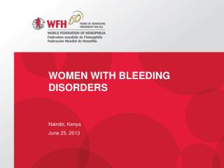 Women with Bleeding Disorders