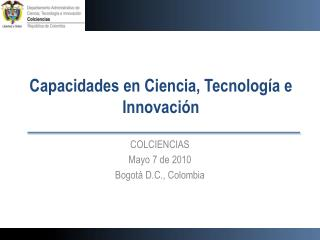 Capacidades en Ciencia, Tecnología e Innovación