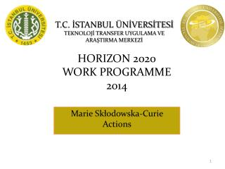 HORIZON 2020  WORK PROGRAMME  2014