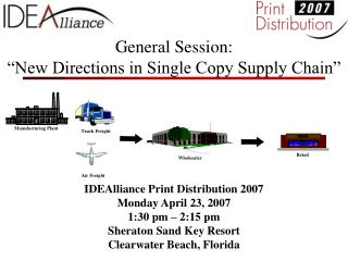 General Session:  New Directions in Single Copy Supply Chain