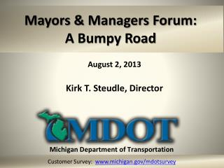 Mayors & Managers Forum:  A Bumpy Road
