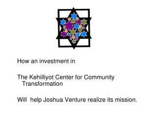 How an investment in  The Kehilliyot Center for Community Transformation