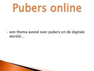 Pubers online