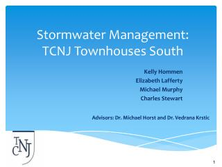Stormwater  Management:     TCNJ Townhouses South