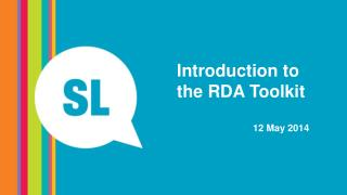 Introduction to the RDA Toolkit 12 May 2014