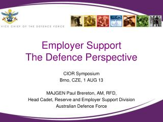 Employer Support The Defence Perspective
