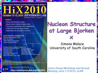 Nucleon Structure at Large  Bjorken  x