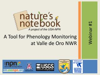 A Tool for Phenology Monitoring at Valle de Oro NWR
