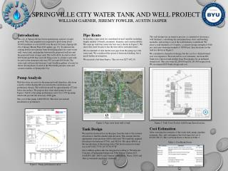 Springville City Water Tank and Well Project