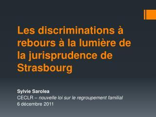 Les discriminations à rebours à la lumière de la jurisprudence de Strasbourg