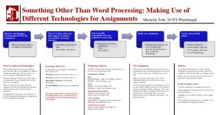 Something Other Than Word Processing: Making Use of Different Technologies for Assignments