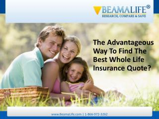 The Advantageous Way To Find The Best Whole Life Insurance Q