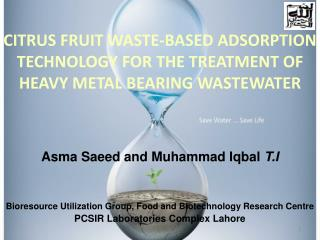 CITRUS FRUIT WASTE-BASED ADSORPTION TECHNOLOGY FOR THE TREATMENT OF HEAVY METAL BEARING WASTEWATER