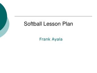 Softball Lesson Plan