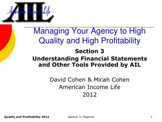 Managing Your Agency to High Quality and High Profitability