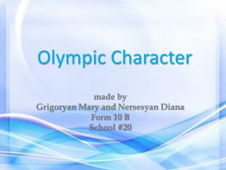 Olympic Character