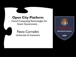 Open  City  Platform Cloud Computing  Technologies  for Smart  Government  - Flavio  Corradini