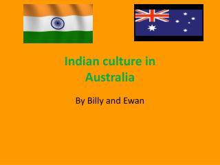 Indian culture in Australia