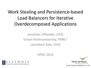 Work Stealing and Persistence-based Load Balancers for Iterative Overdecomposed Applications