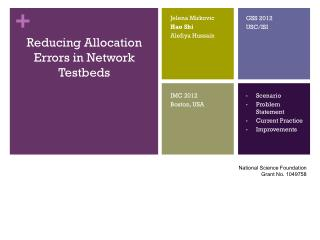 Reducing Allocation Errors in Network Testbeds