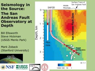 Seismology in the Source:  The San Andreas Fault Observatory at Depth  Bill Ellsworth Steve Hickman  USGS Menlo Park  Ma