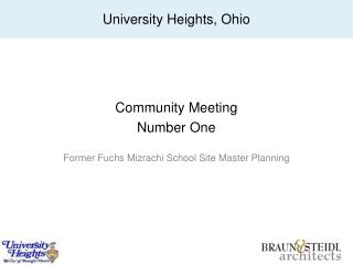 Community Meeting  Number One Former Fuchs  Mizrachi  School Site Master Planning