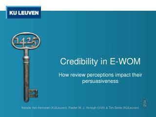 Credibility  in E-WOM