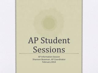 AP Student Sessions