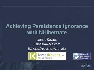 Achieving Persistence Ignorance with  NHibernate