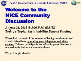 NASA Innovations in Climate Education (NICE)