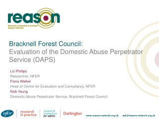 Bracknell Forest Council: Evaluation of the Domestic Abuse Perpetrator Service (DAPS)