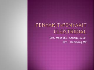 Penyakit-Penyakit Clostridial