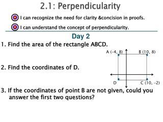 2.1: Perpendicularity