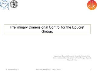 Preliminary Dimensional Control for the  Epucret  Girders