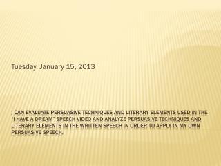 Tuesday, January 15, 2013