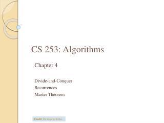 CS  253:  Algorithms