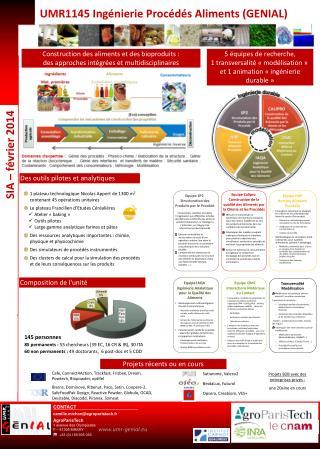 UMR1145 Ingénierie Procédés Aliments (GENIAL)