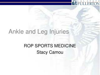 Ankle and Leg Injuries
