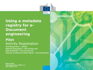 Using a  metadata  registry for e-Document engineering