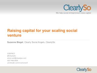 Raising capital for your scaling social venture