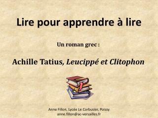 Lire pour apprendre � lire